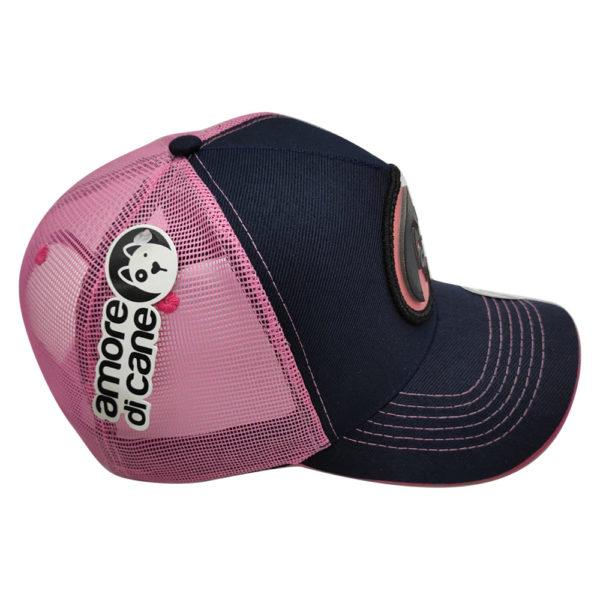 boné cachorro logotipo rosa