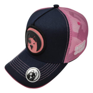 boné truck rosa logotipo cão