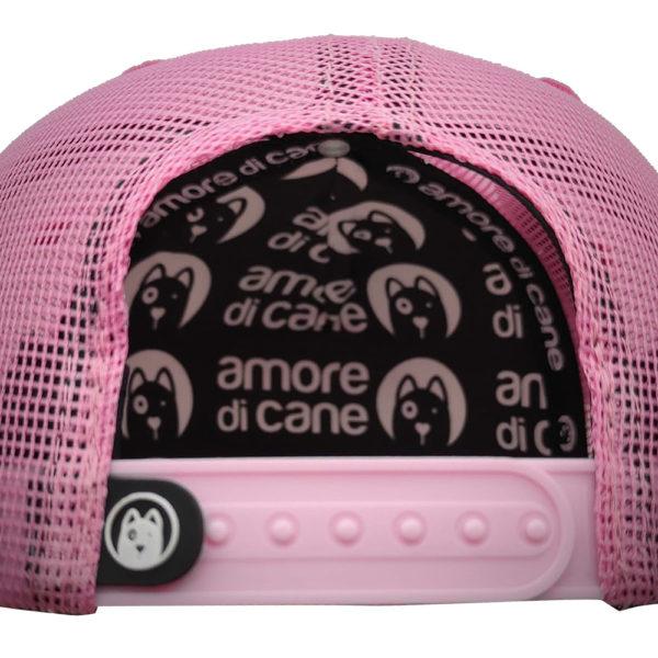 boné rosa estampa cão