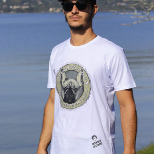 camiseta estampa bulldog