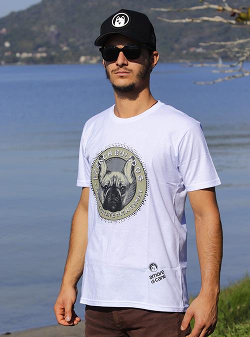 camiseta estampa bulldog
