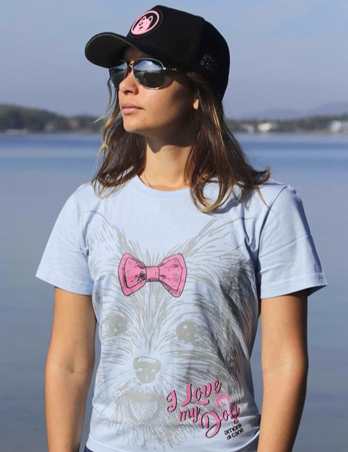 camiseta estampa cachorro shitzu