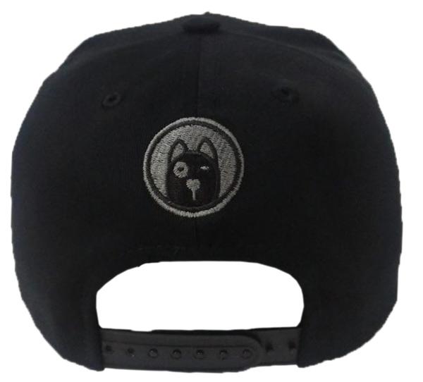 boné preto estampa cachorro