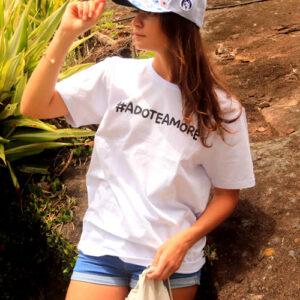 camiseta branca animal de estimação