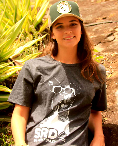 camiseta feminina surf dog